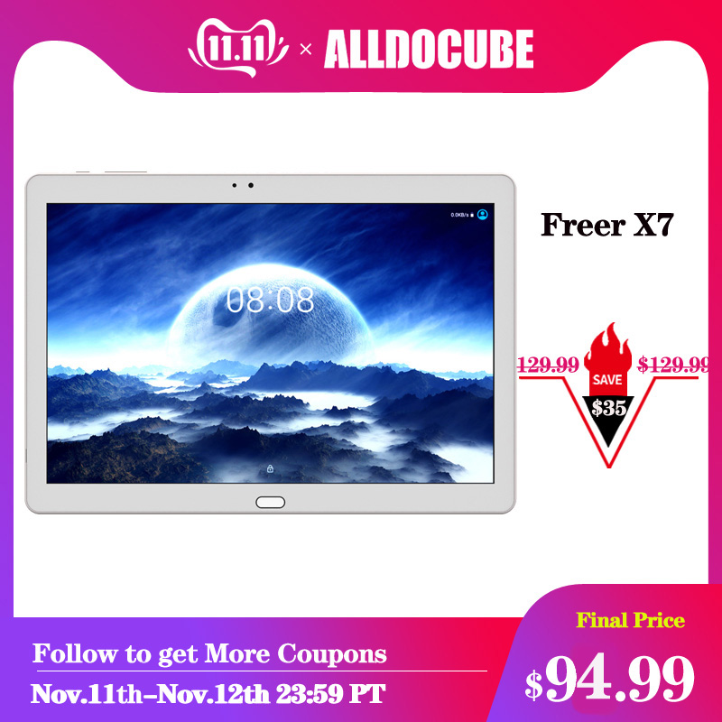 ALLDOCUBE Freer X7 10.1 Inch Tablet 1920 X 1200 Android 6.0 MT8783 Octa Core 3GB RAM 32GB ROM 4G LTE Kid's Phablet