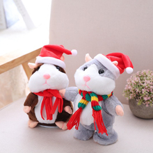 Toys Talking Hamster Stuffed-Doll Sound-Record Plush Pet Mouse Christmas-Toy Birthday-Gifts