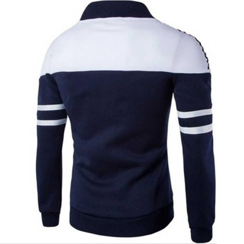男スポーツジャケットスポーツウェア男性ゴルフジャケットコートストライプパッチワークスリムフィットジャケットプラスサイズ M-4XL ランニング用
