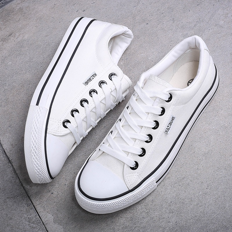 2020 Sneakers Mens Canvas Shoes Fashion Cool Street Sneakers Breathable Men's Casual Shoes Male Brand Classic Black White Shoes 1