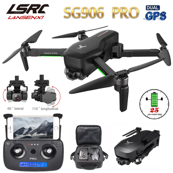 LSRC New SG906 Pro Drone with GPS 4K 5G WIFI 2-axis pan/tilt dual camera professional ESC 50X zoom brushless quadcopter RC Dron