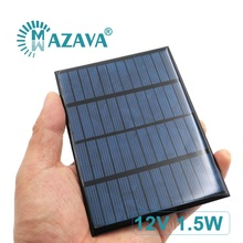 12 V 1.5 W Solar Cells 1.5W 5W 7.5W 12V Outdoor Charger 12V Battery Home Solar Panel 115mm*85mm Polycrystalline Silicon