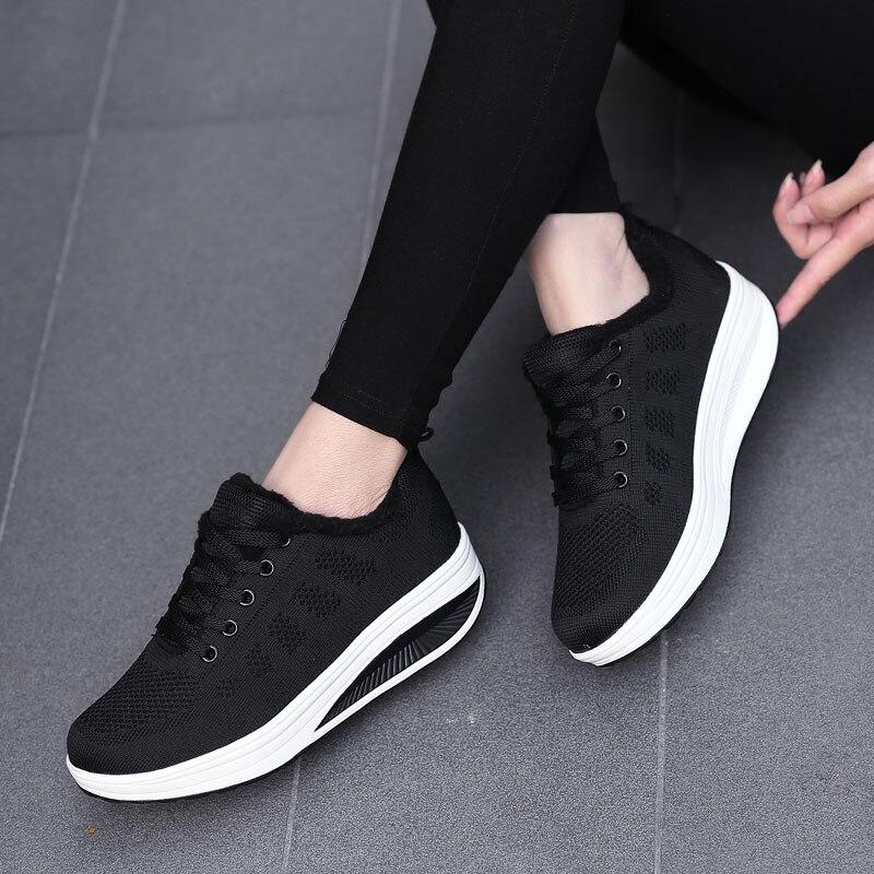 Купить женские плюшевые ботинки зимняя женская обувь на мягкой подошве