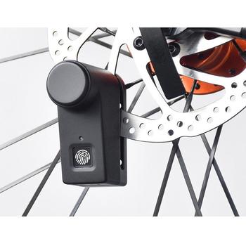 Motocykl skuter rower odcisk palca zamek do hamulca tarczowego zabezpieczenie przed kradzieżą rozpoznawanie linii papilarnych odblokuj 40 pamięć Lock tanie i dobre opinie CN (pochodzenie)