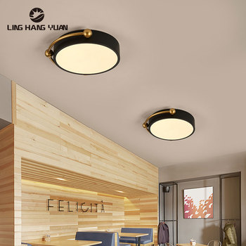 modern led ceiling lights 40 60cm for bedroom cloakroom ceiling lamp aisle corridor balcony lamps white black lighting fixture Small Led Ceiling Light Black&White D28cm 12w Modern Ceiling Lamp for Living room Bedroom Dining room Aisle Lamp Corridor Lights