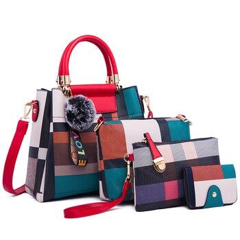 Ceossman 4 pçs/set bolsa feminina sacos de mão das senhoras bolsas de luxo bolsas femininas sacos de grife para a mulher 2020 bolsa saco composto do plutônio