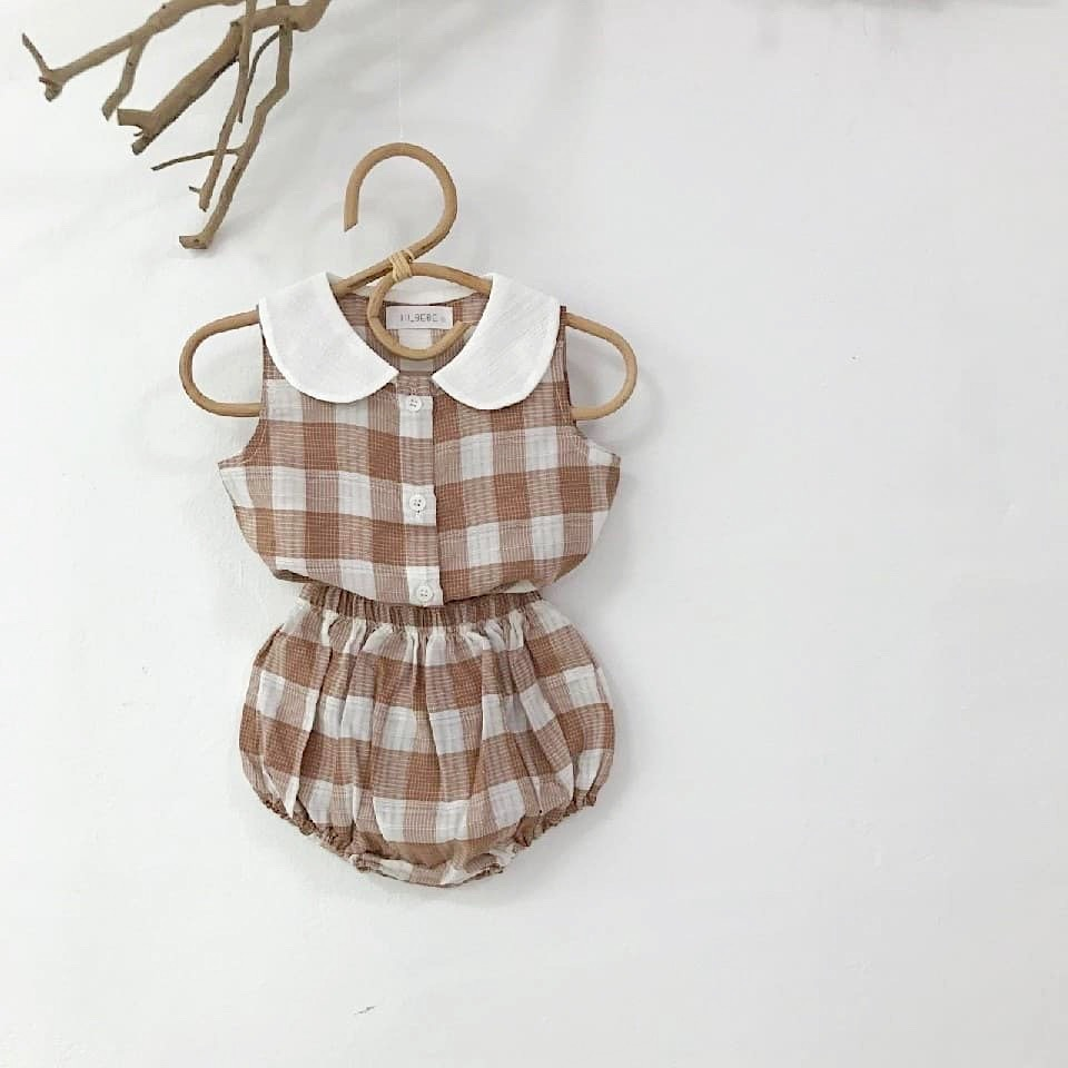MILANCEL Spring baby clothing set paid vest tops and bloomers 2 pcs baby girls clothes