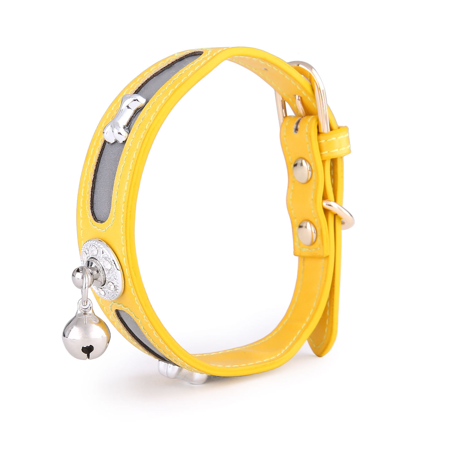 2020 Hot Selling Pet Bone Standard Neck Ring Small, Medium And Large Pet Cat Dog Reflective Neck Ring