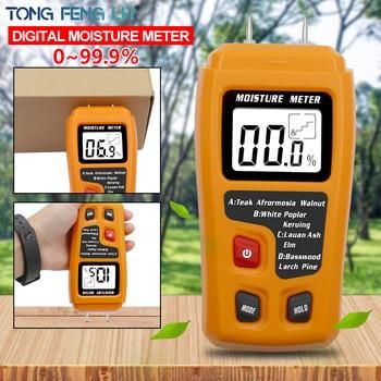 Orange 0-99.9% Two Pins Digital Wood Moisture Meter Humidity Tester Hygrometer Timber Damp Detector Large LCD Display - discount item  25% OFF Measurement & Analysis Instruments