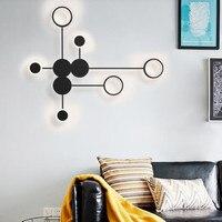 Lampada da parete moderna nordica lampada da parete minimalista a Led, camera da letto soggiorno, lampada scala, decorazione domestica lampada da parete comodino installare