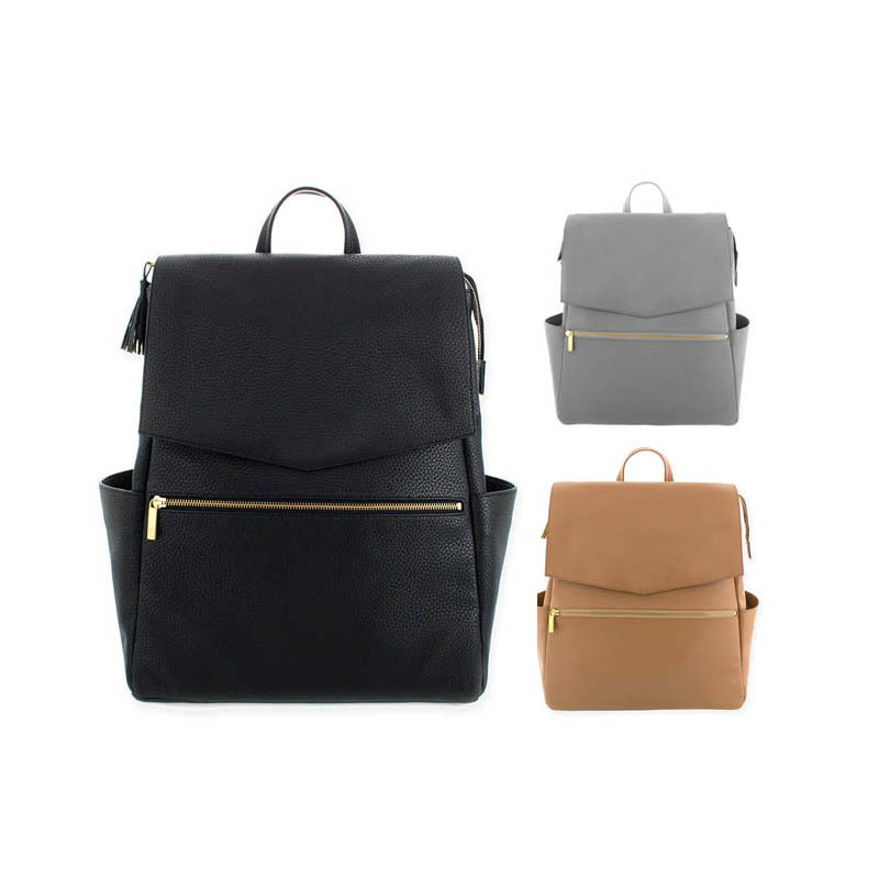 Meilleure vente PU momie sac épaule multi-fonctionnelle haute capacité momie sac à dos mère sac à dos sac à langer sac bébé sacs