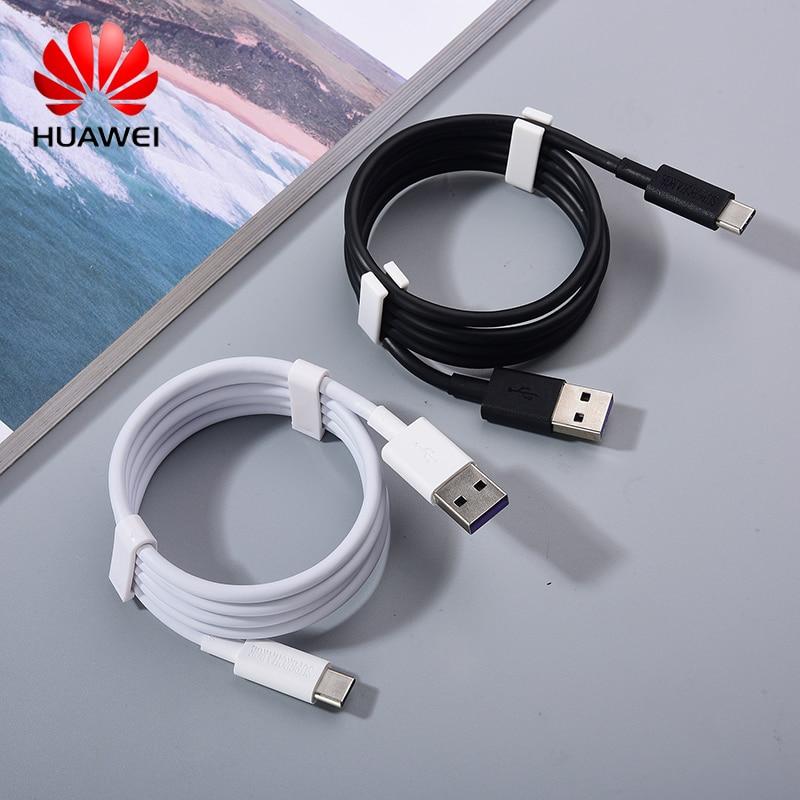 Оригинальный USB-кабель 100 см, 5 А, Type-C, кабель для быстрой зарядки и передачи данных типа C для Huawei Mate 40, 30, 20, P40, P30, P20, зарядный провод