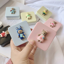 Case Lens-Container Contact-Lens Care Bear Animal Cute Cartoon for Women And Gift Suite