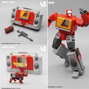 Image 1 - MFT Transformation MF 49 MF49 Blaster Emitter Recorder Model Pocket War MechFans Action Mini Figure Robot Toys 12cm with box
