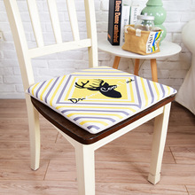 Simanfei Seat Cushion Nordic Ins Yellow Geometric Memory Foam Pillow For Chair Decorative Sofa Soft Padding Pad