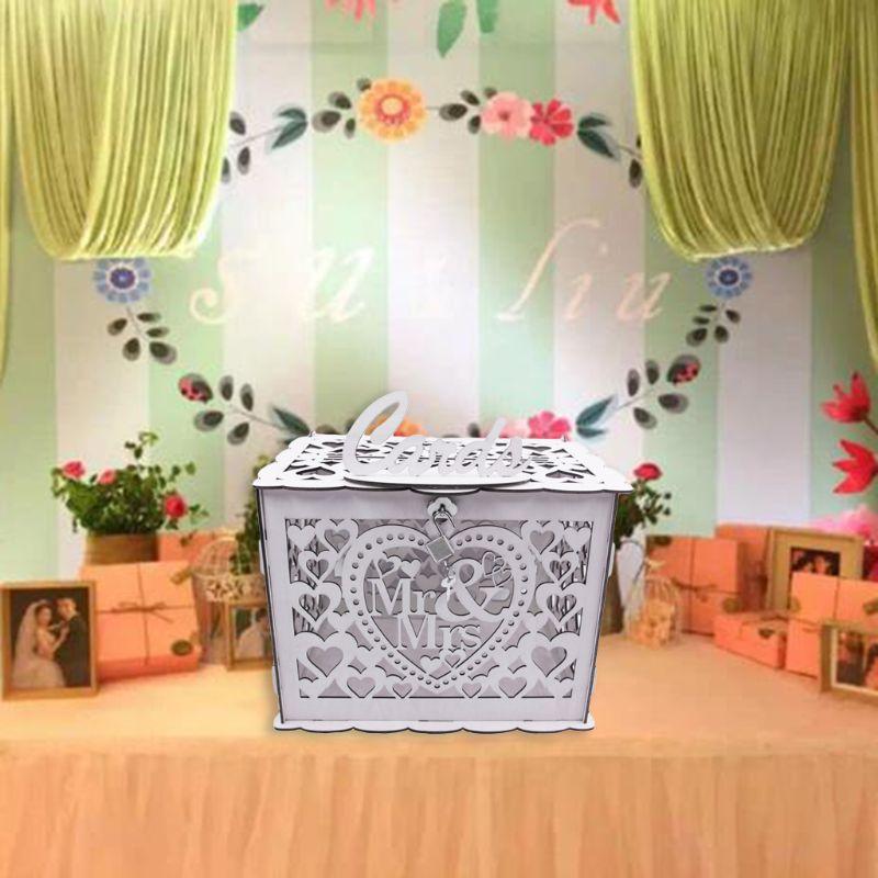Индивидуальные печати Белый Красный Кружева Бабочка Пряжка красивое свадебное приглашение на свадьбу Подарочная поздравительная открытк... - 3