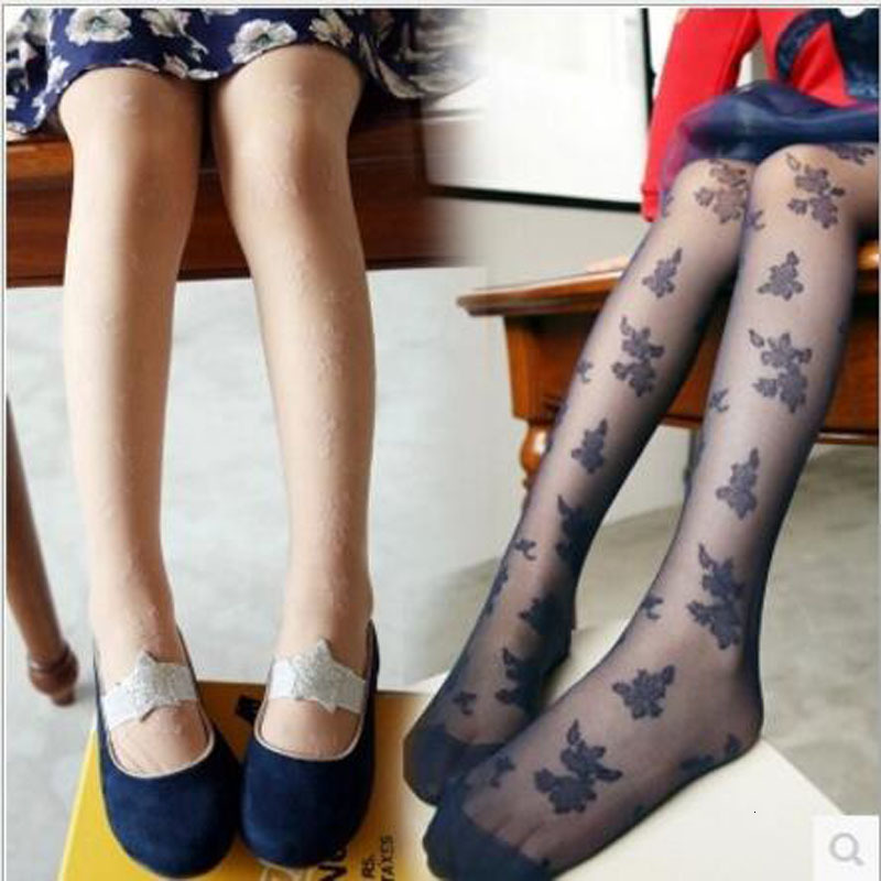 2021 Girl Pantyhose Children Summer Lace Tights Kids Spring Pantyhose Girls Underpant Dance For Kids Children Lace Collant Fille 1