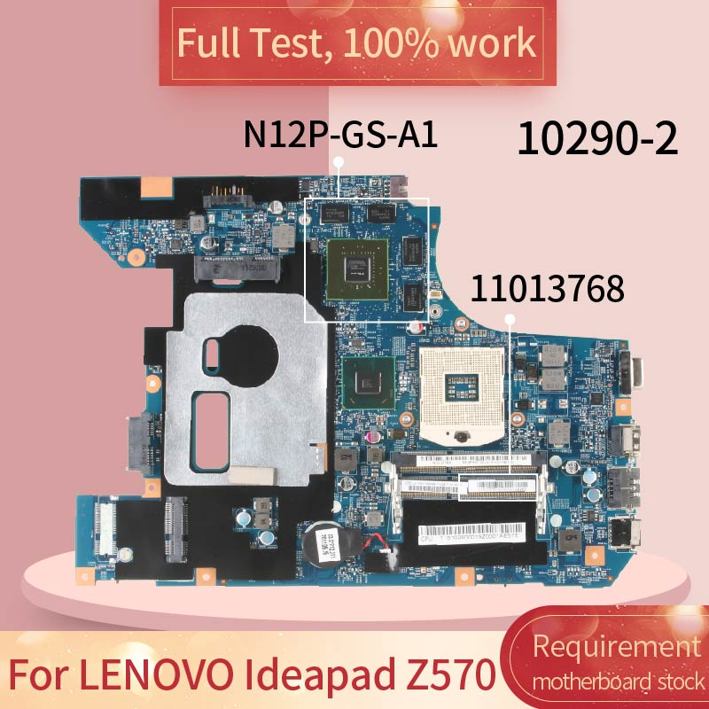 10290-2 For <font><b>LENOVO</b></font> Ideapad Z570 10290-2 11013768 HM65 N12P-GS-A1 DDR3 Notebook <font><b>motherboard</b></font> Mainboard full test 100% work image