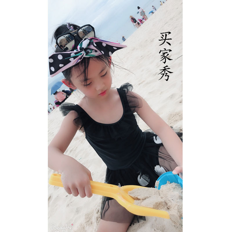 New Style Middle And Large Bathing Suit Girls Dress-Children Tong Cute Mesh Dress GIRL'S Catwalks Performance Swimwear