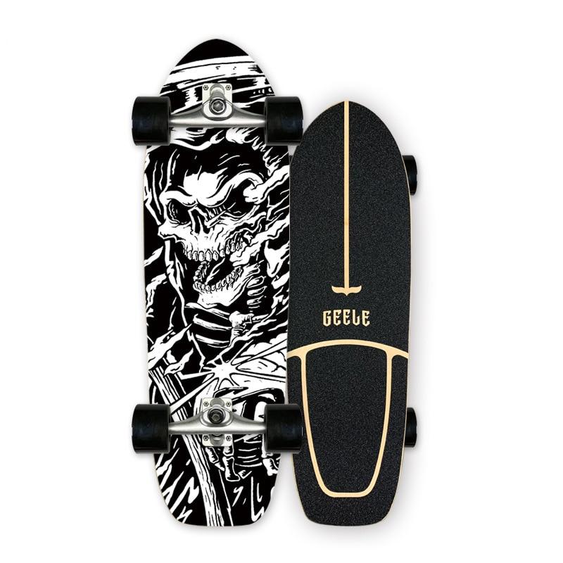 Высокогладкий скейтборд CX4 CX7 для серфинга, профессиональный кленовый Круизер, скейтборд, Лонгборд для резки на улице