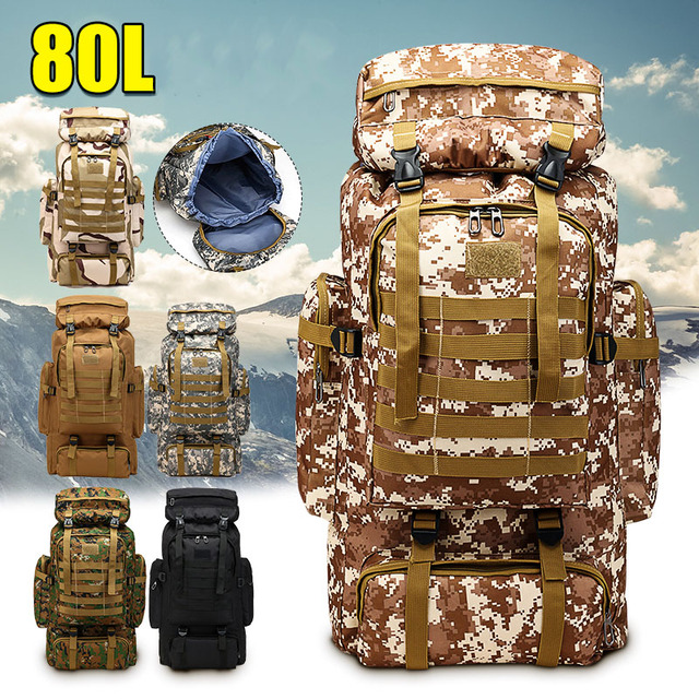 80L Outdoor Military Waterproof Tactical Backpack 1