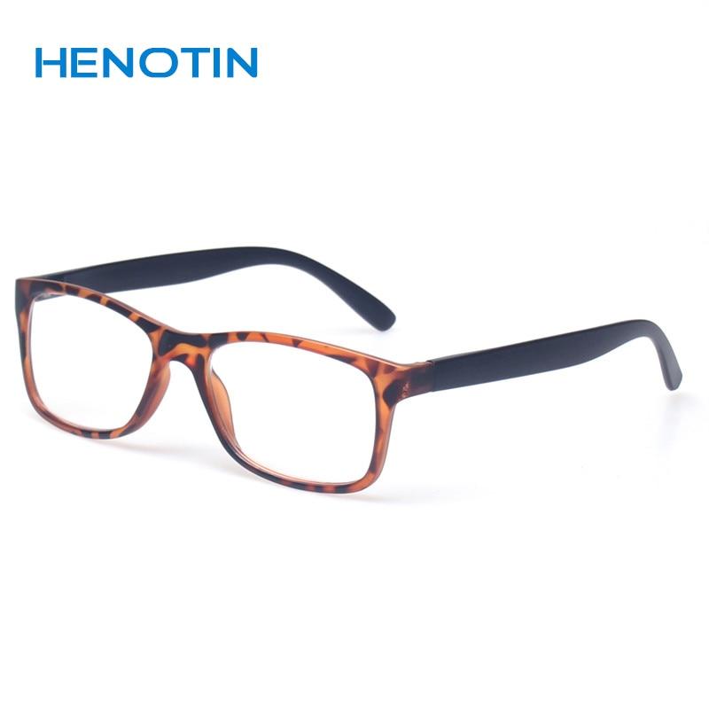 Läsglasögon Män och kvinnor Professer Rektangulära läsare Mode Stor ram Klara objektiv Glasögon Gafas De Lectura