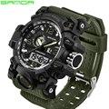 SANDA военные спортивные мужские часы водонепроницаемые светодиодные цифровые наручные часы лучший бренд Дайвинг Мужской будильник часы ...