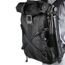 Besnfoto BN 2020 DSLR sırt çantası rulo üst dizüstü bilgisayar bölmesi hızlı yan erişim su geçirmez kamera çantası yürüyüş seyahat için
