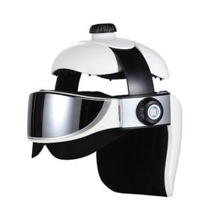 Image 4 - Head Massager Eye Massager 2 in 1 Relieve Stress Promote Sleep Music Massage Helmet Automatic Infrared Pressure Head Massager