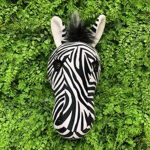 Image 3 - 2021 Zebra Caccia decorazioni hunter safari decorazione della parete di animali di peluche realistico reallife per la scuola materna o camera dei bambini foresta