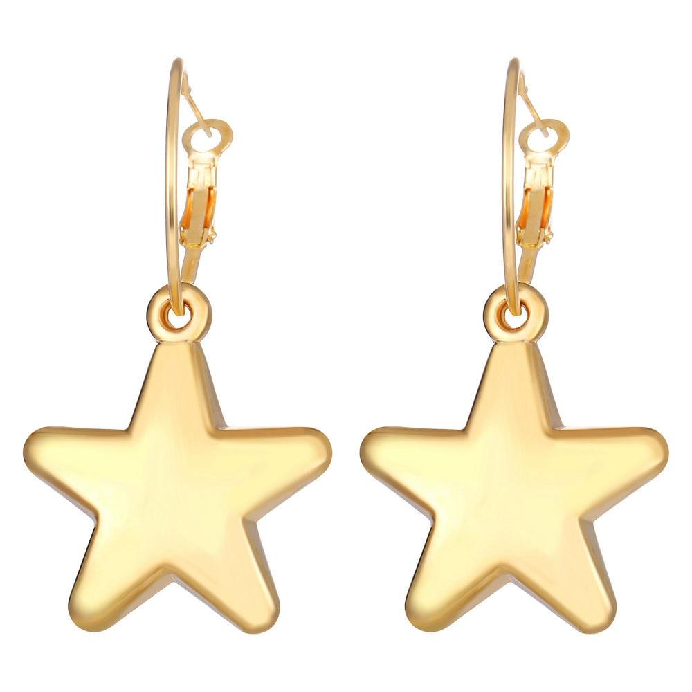 1pair Fashion Bohemian Punk Earrings Jewelry star heart Elephant  gold color Earrings Best Gift for Women Girl E051