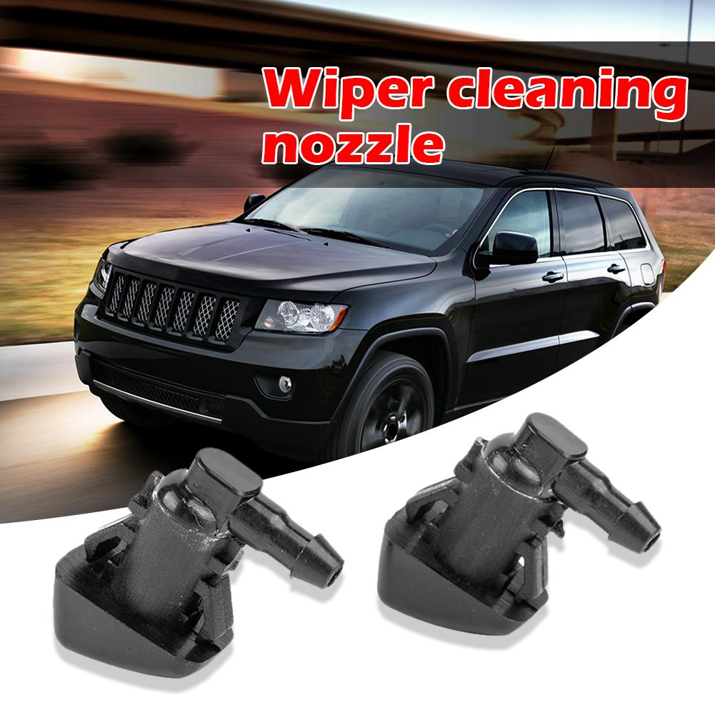 Durable Windshield Washer Nozzles Delicate Design 2pcs Windshield Wiper Washer Spray Nozzles With Tools For Jeep Grand Cherokee