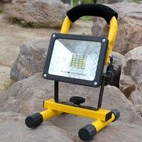 18650 휴대용 충전식 투광 조명 30W 24 led 홍수 빛 방수 야외 충전식 조명 + 충전기 + 3x18650 배터리