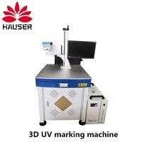 Free shipping, 3D 3W 5W UV laser engraving machine fiber laser marking machine glass metal plastic marking machine
