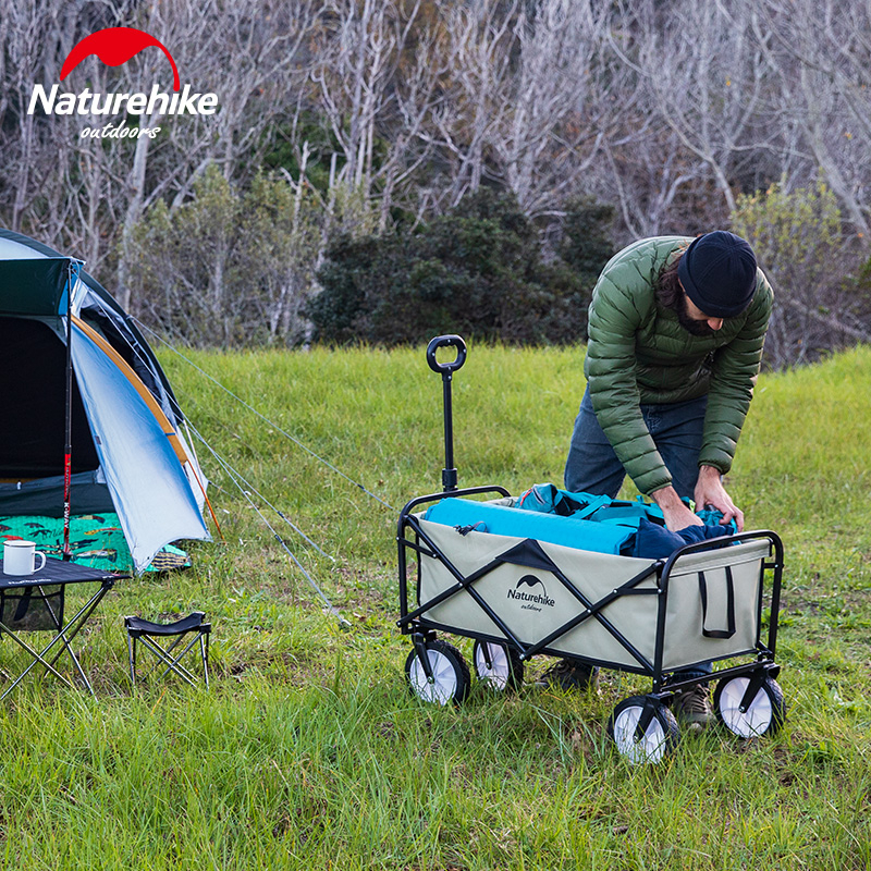 Naturehike Clearance Price Outdoor Storage Car Foldable Outdoor Folding Trolley Camping Picnic Trolley Car Adjustable Trolley
