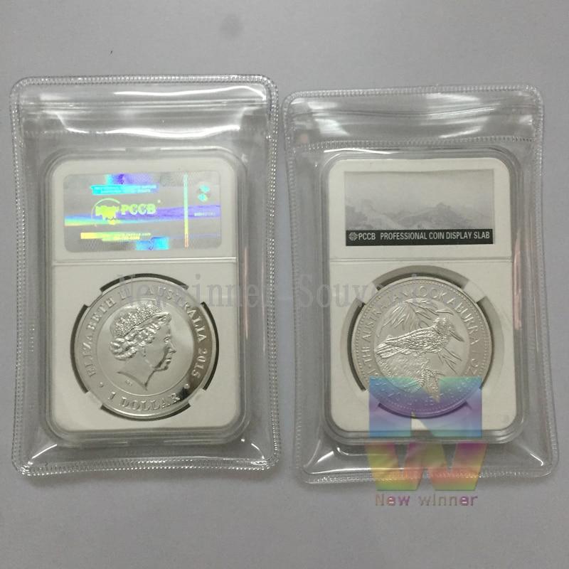 1 pçs 2015 perth mint animais australianos um troy onça kookaburra 999 prata chapeado bullion moeda com caso pccb