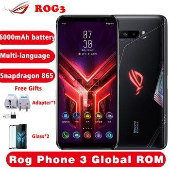 Купить ASUS ROG Phone 3 6,59 дюйм12/16 ГБ ОЗУ 128/256/512 Гб ПЗУ Snapdragon 865/865 Plus 6000 мАч 144 Гц FHD + AMOLED 5G игровой телефон 2020
