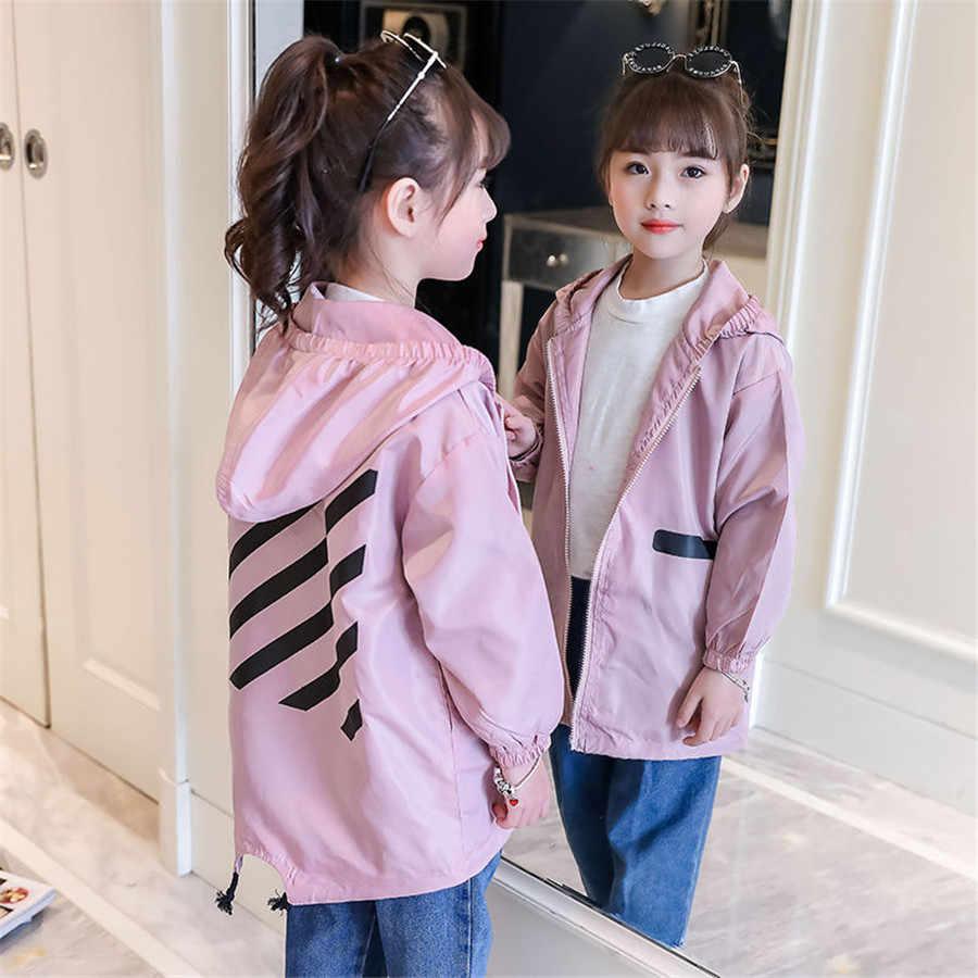 2020 ฤดูใบไม้ผลิเด็กหญิง Windbreaker แจ็คเก็ต 4 6 8 10 12 สาวเสื้อเด็ก Outerwear Coats ฤดูใบไม้ร่วงสำหรับแจ็คเก็ตหญิงเสื้อผ้าเด็ก