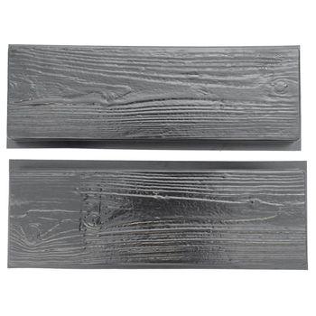 Imitation Wood Grain DIY Path Maker Paving Cement Brick Mold Stepping Pavement Road Concrete Mould