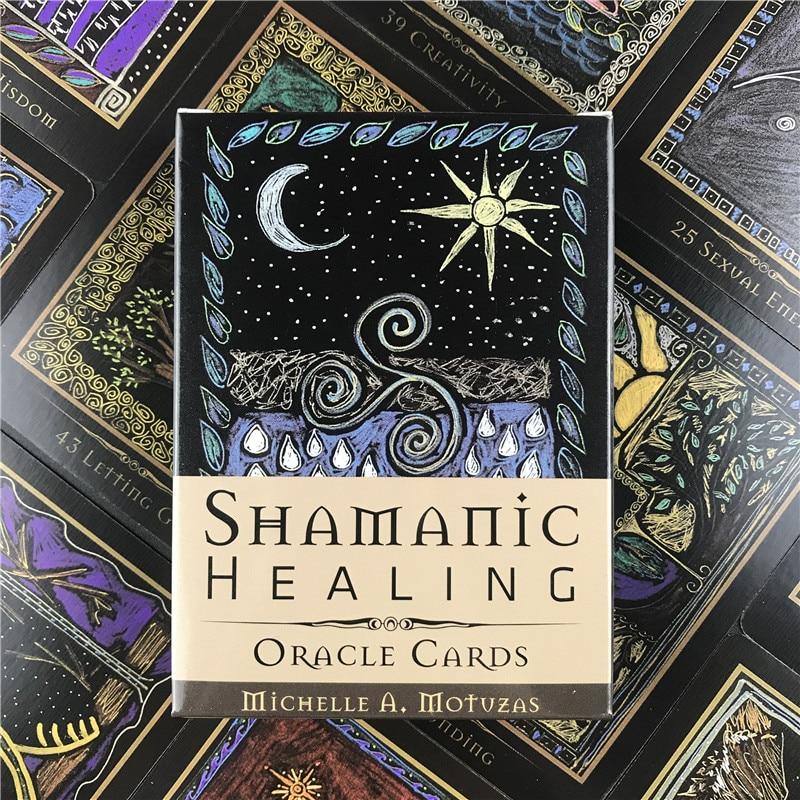 Tarocchi Carte Shamanic Guarigione Oracle Carte Tarocchi Guida Divinazione Fate Deck Giochi Da Tavolo Per Il Partito della Famiglia Forniture