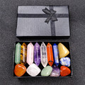 7 энергия чакры камень Целебный Камень набор, хороший подарок на день матери, медитации камень Йога амулет с подарочной коробке дома украшен...
