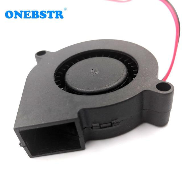 5015 chłodzenie Turbo wentylator 5V 12V 24V bezszczotkowy 3D drukarki części 2Pin do wytłaczarki DC Cooler dmuchawy część czarny plastik darmowa wysyłka