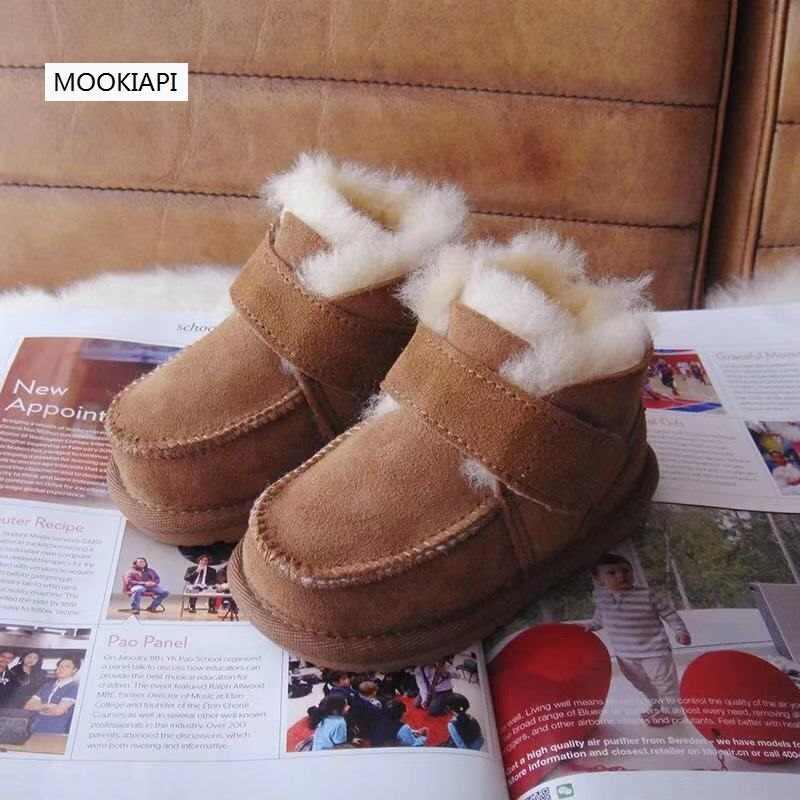 Avustralya son koyun derisi ve kürk ayakkabı 2019, saf yün kaymaz toddlers'high kaliteli kar botları, 5 renk, ücretsiz teslimat