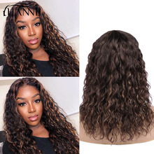 Short Wigs Human-Hair Lace Natural-Wave Brazilian Plucked Ombre-Color Pre HANNE 150-%