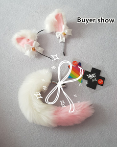 Image 5 - Cute Soft Neko Ears Headbands Faux Fox Tail Metal Butt Anal Plug Erotic Anime Cosplay Accessories Adult Sex Toys for Couples