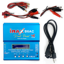 iMAX B6AC RC Charger 80W 6A Dual Channel Balance Charger Digital LCD Screen Li-ion Nimh Nicd 1S-6S LiPo Battery Discharger(China)