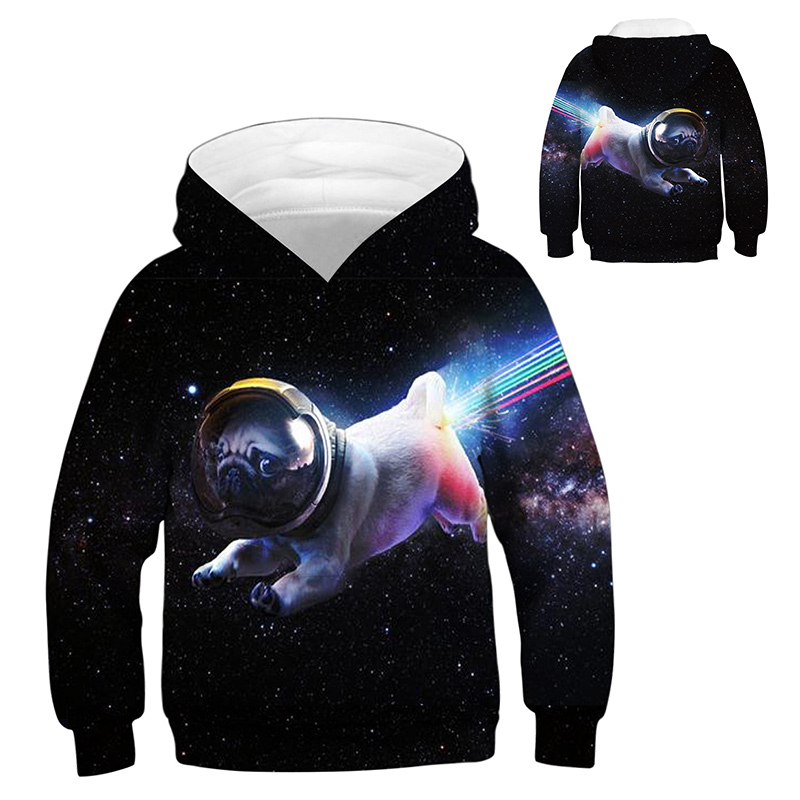 INPEPNOW Space 3D Print Astronaut Hoodies for Girl Sweat Shirt Cotton Clothes for Kids Hoodies for Boys Sweatshirt Pullovers 32 3