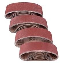 40-60-80 10-Grits-for Belt-Sander 3x21inch 25pcs Aluminum-Oxide