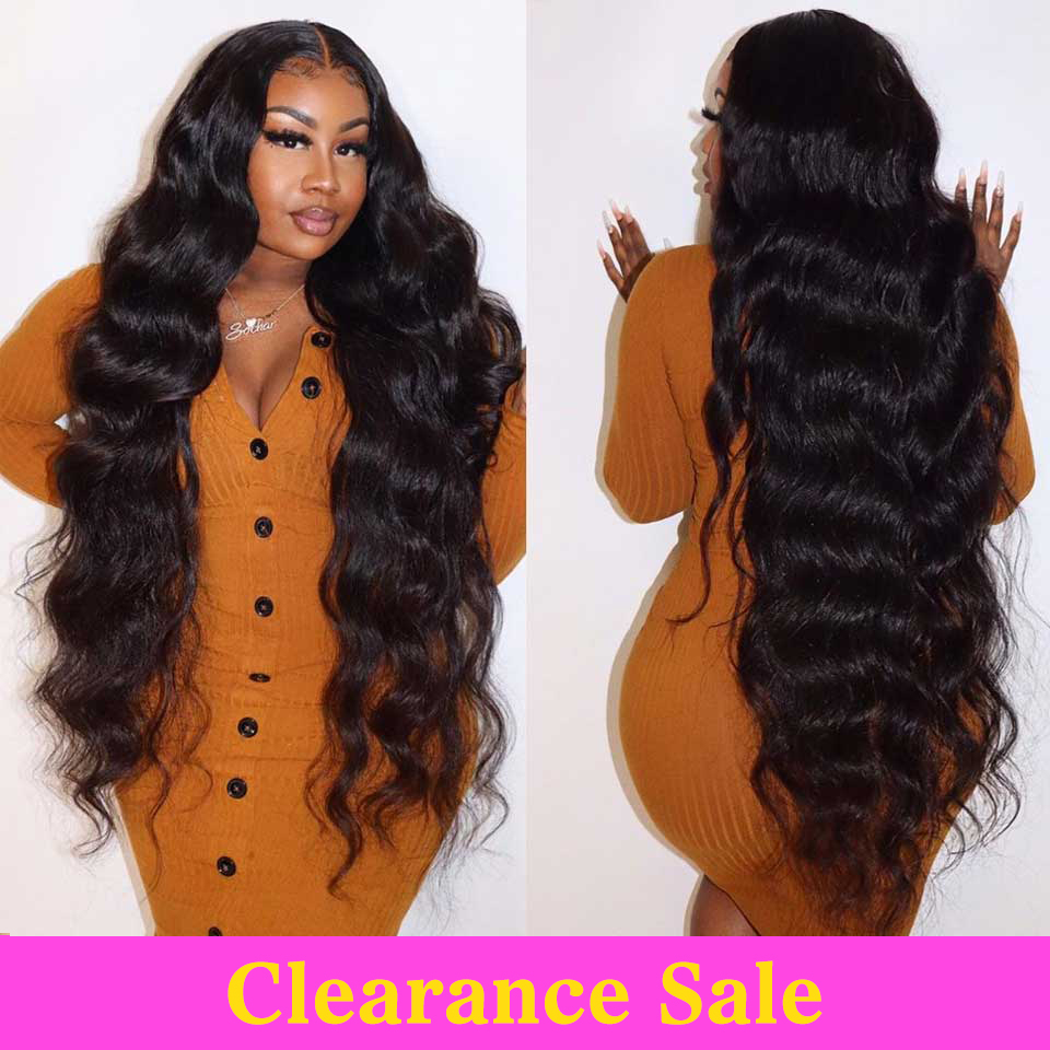 Body Wave Wig Transparent Lace Frontal Wigs T Part Remy Brazilian 28 30 32 Inch Long Wavy Body Wave Lace Front Human Hair Wigs