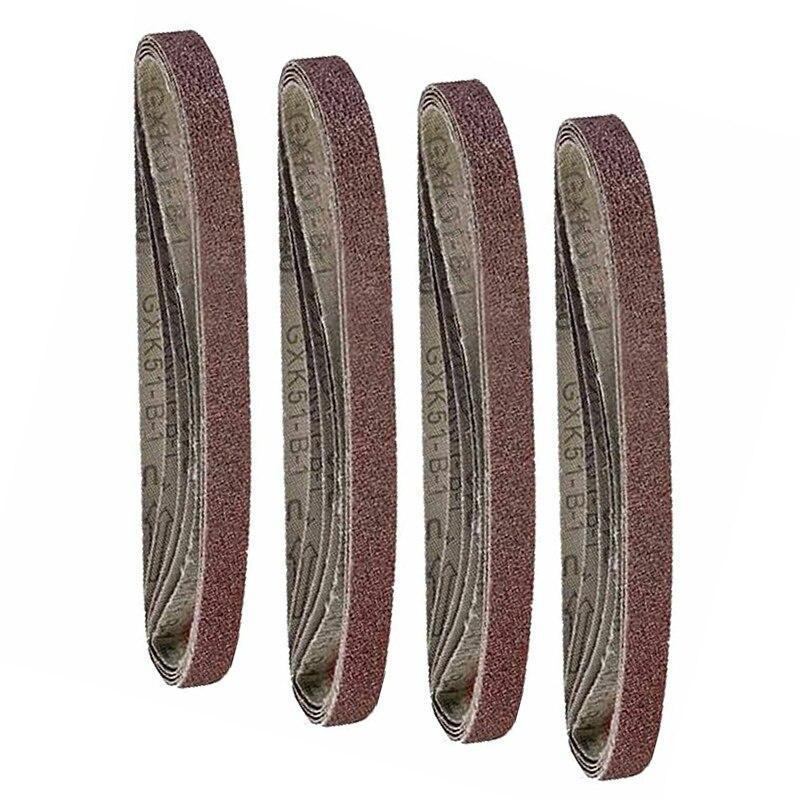 20X Assorted Sanding Belts 13mm  X 457mm Compatible Belt Finger Sander Alumina